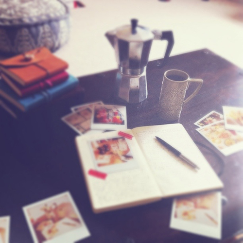 Polaroids and journals