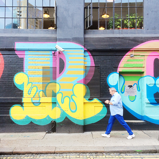 Colour in Shoreditch | SusannahConway.com
