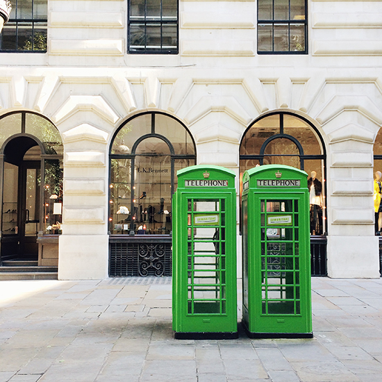 Green phone boxes | SusannahConway.com