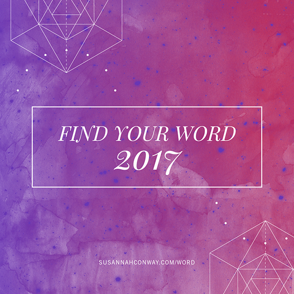 Find Your Word 2017 :: the free 5-day course on SusannahConway.com
