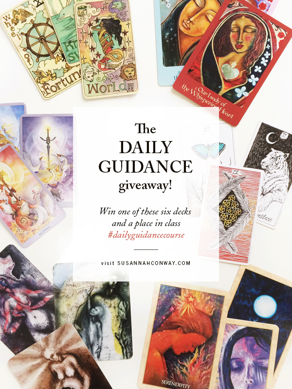 The Daily Guidance giveaway! Win one of these six decks + a place in class | SusannahConway.com